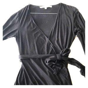 Black wrap style dress
